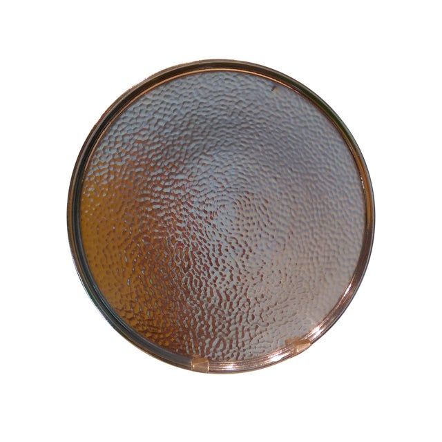 Hammered Silverplate Shallow Dish - Image 1 of 6