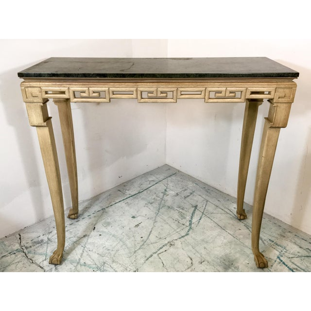Italian Greek Key Tall Console Table - Image 4 of 6
