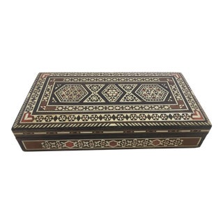 Syrian Inlay Jewelry Wooden Box For Sale