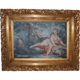 Late 19th Century Venus Bathing Painting in Gilded Frame For Sale