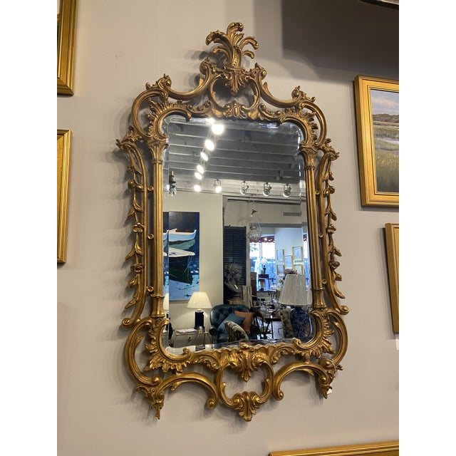 Wood Vintage 1940s Victorian Gilt Gold Mirror For Sale - Image 7 of 7