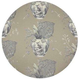 "Nicolette Mayer Monkey Small Jungle Greenwhich 16"" Round Pebble Placemats, Set of 4 For Sale"