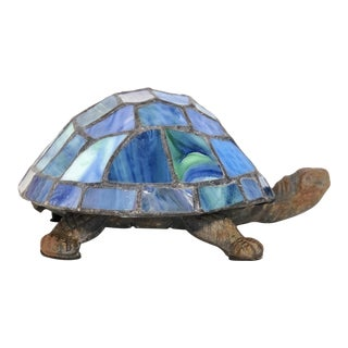 Stained Glass Turtle Accent Lamp For Sale