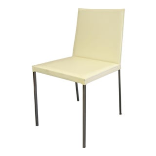 Kehl Brazilian Modern Cream Leather Side Chair