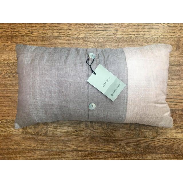 Contemporary West Elm Mauve & Lavender Silk Pillow For Sale - Image 3 of 5