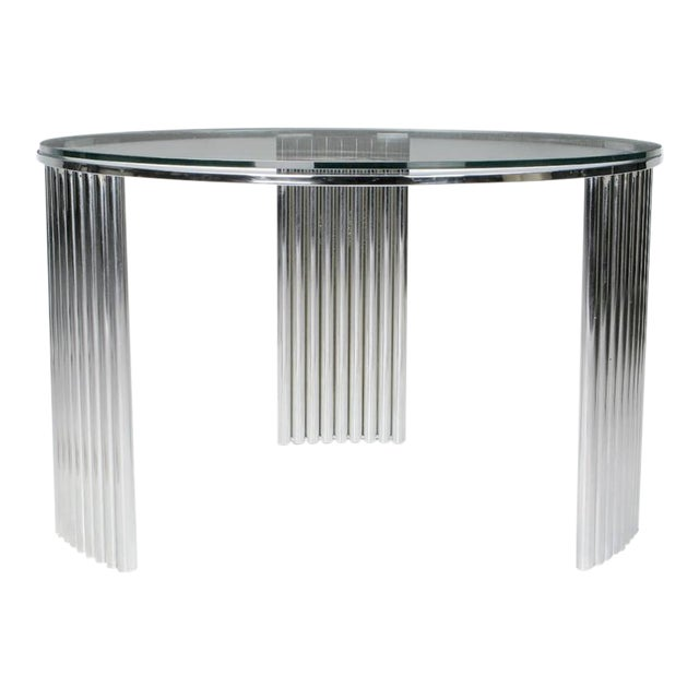 Art Deco Tubular Chrome Coffee Table in the Manner of Vermillion of LA For Sale