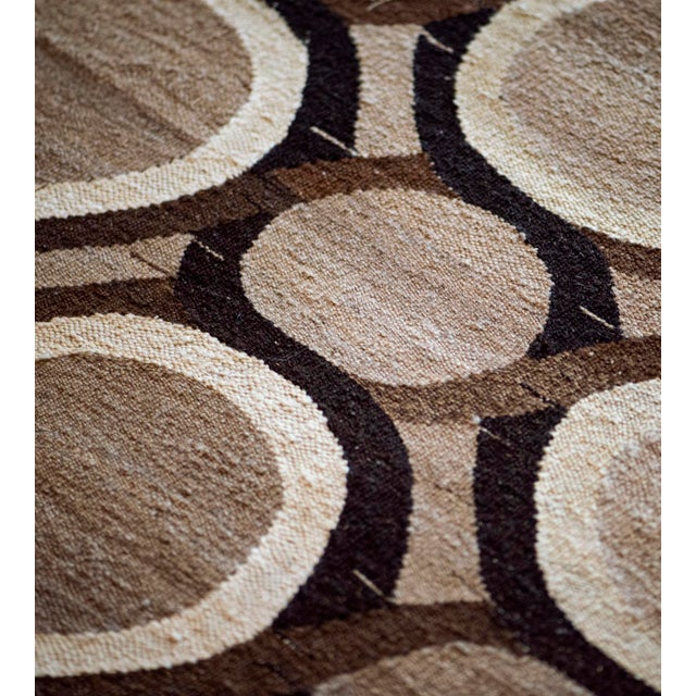 MANSOUR Wool Flatweave Rug Handwoven in Turkey For Sale - Image 4 of 7
