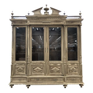 19th Century French Bleached Walnut Cabinet For Sale