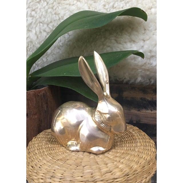 Mid Century Modern Brass Rabbit Bunny Figurine For Sale - Image 4 of 7