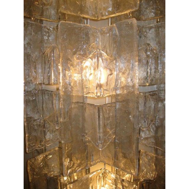 AVMazzega Pair of Mazzega Large Glass Sconces For Sale - Image 4 of 5