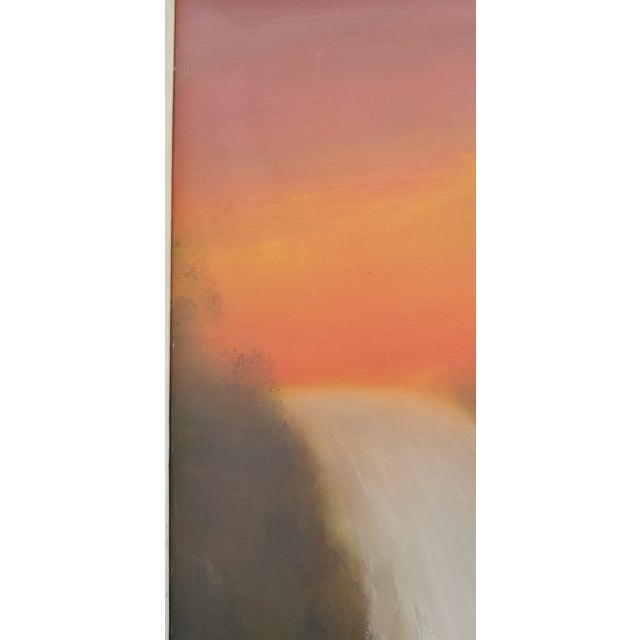 Wood Vintage Mid-Century Stevens Waterfall Landscape Oil Painting For Sale - Image 7 of 11