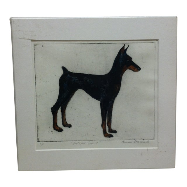 """""""Faithful Friend"""" Signed Artist's Proof Print by Carmen Sherbeck For Sale"""