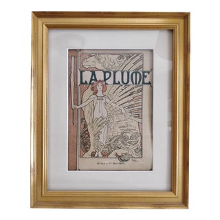 Original 1897 La Plume Magazine #193 Cover Print Illustrated by Mucha