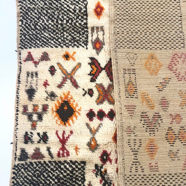 """Textile Vintage Tribal Berber Wool Checkerboard Rug-5'2"""" X 8'8"""" For Sale - Image 7 of 10"""