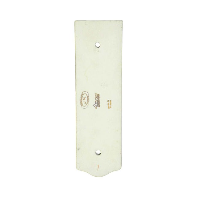 Limoges, France Pair of Limoges 7.75 In. White Ceramic Floral Door Push Plates For Sale - Image 4 of 6