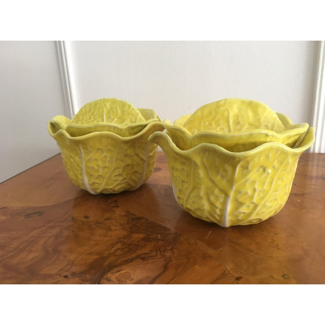 Yellow Vintage Secla Yellow Cabbage Bowls- Set of 3 For Sale - Image 8 of 12