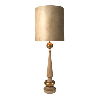 Monumental 1950s, Regency Torchiere Lamp in the Manner of James Mont For Sale