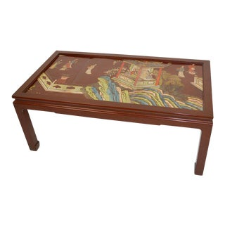 Chinese Coromandel Panel Coffee Table For Sale