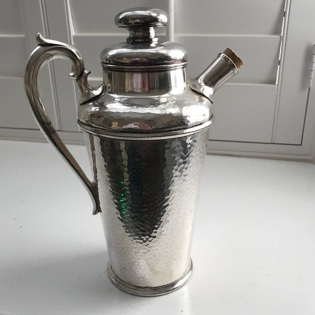 International Silver Co. Hammered Cocktail Shaker - Image 10 of 10