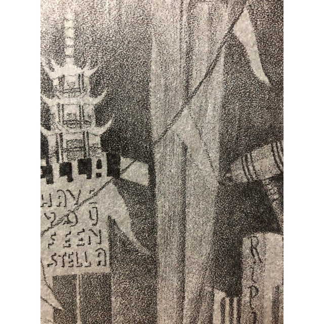 1915 Pencil Drawing San Francisco World's Fair For Sale - Image 4 of 6