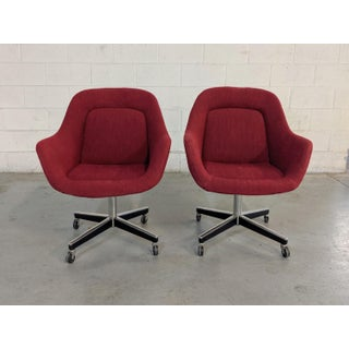 1980s Vintage Max Pearson for Knoll Executive Chairs - a Pair Preview