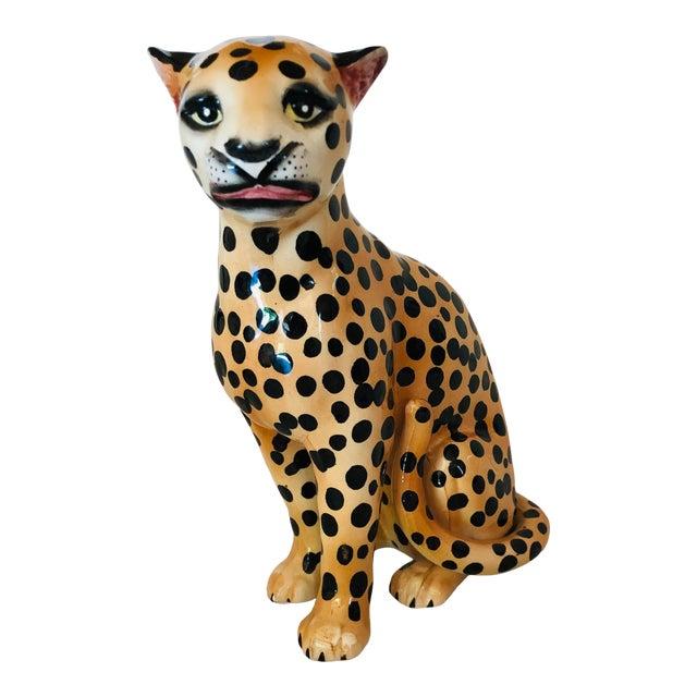 1970s Ceramic Cheetah Figurine For Sale