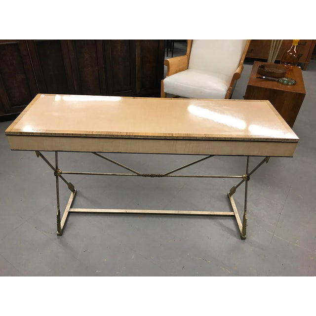 Traditional Vintage Neo-Classical Style Console Table For Sale - Image 3 of 8