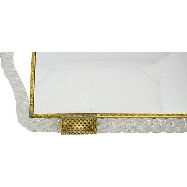 Italian Glass Vanity Tray - Image 4 of 6