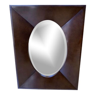 Majestic Oval Framed Wall Mirror For Sale