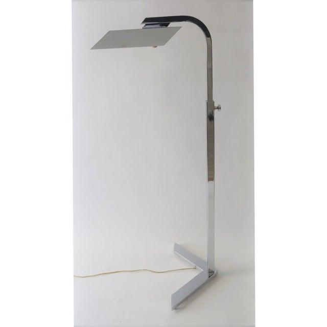 Casella Vintage Casella Style Floor Lamp - Adjustable Polished Chrome For Sale - Image 4 of 11