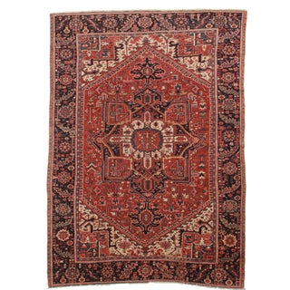 Hand-Knotted Wool Persian Hariz - 7′7″ × 10′10″ For Sale