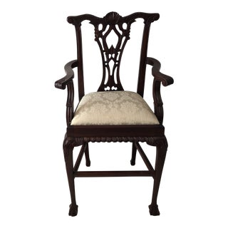 American Classical Ornate Style Clawfoot Regal Mahogany Counter Seat For Sale