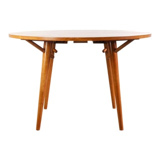 1960s Mid Century Modern Conant Ball Spindle Dining Table For Sale
