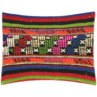 "Nalbandian - 1960s Turkish Kilim Pillow - 18"" X 23"" For Sale"