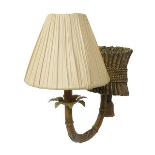 Islander Single Arm Bamboo Wall Sconce by Fanimation For Sale
