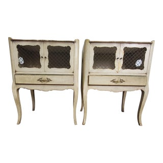 Early 20th Century Antique Italian Louis XV Nightstands Side/End Tables - a Pair For Sale