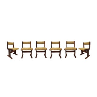 Mid Century Modern Danish Rosewood Set of 6 Side Dining Chairs 1960s