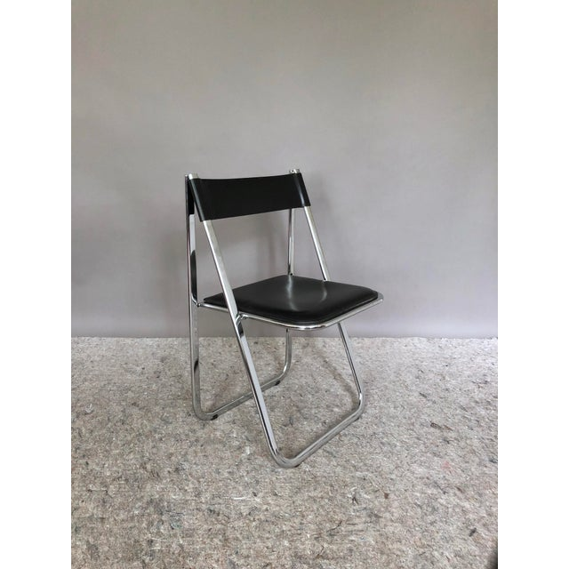 """Gorgeous vintage set of 6 """"Tamara"""" folding chairs made by Arrben in Italy. These chairs have chromed steel frames with..."""