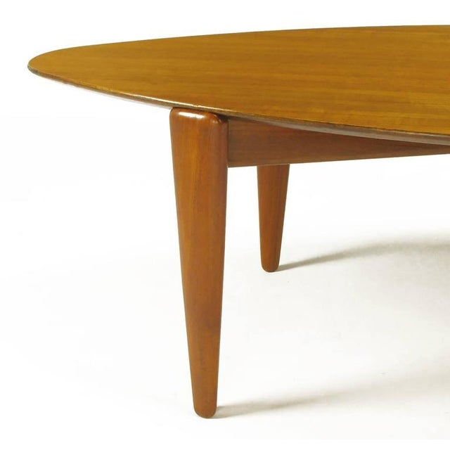 Double Parabola Teak Coffee Table in the Manner of Finn Juhl - Image 7 of 8
