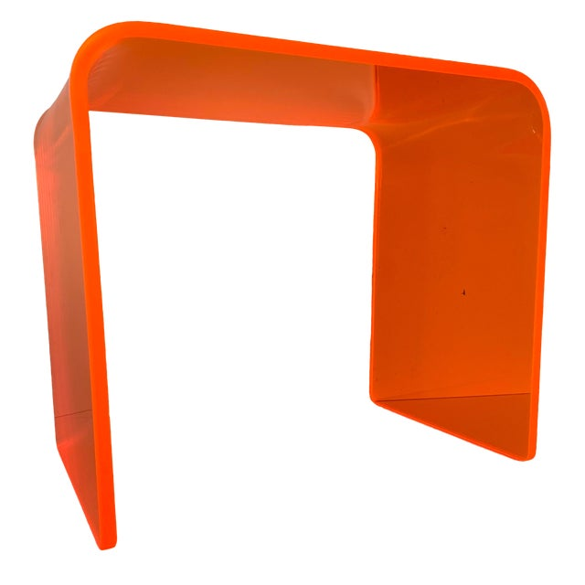 """The Side Piece"" Side Table in Neon Orange For Sale"