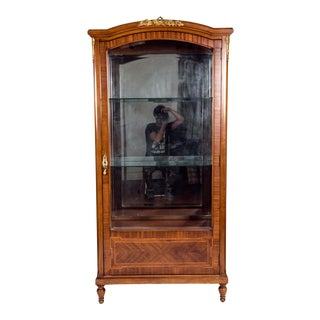 Late 19th Century French Burl Wood Vitrine / Cabinet . For Sale