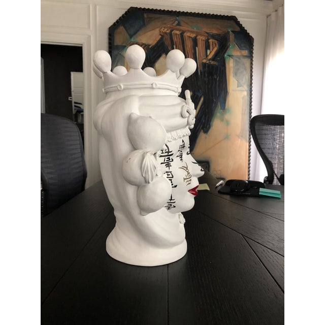 2010s Contemporary Ceramic Vase by Artist Stefanie Boemhi For Sale - Image 5 of 11