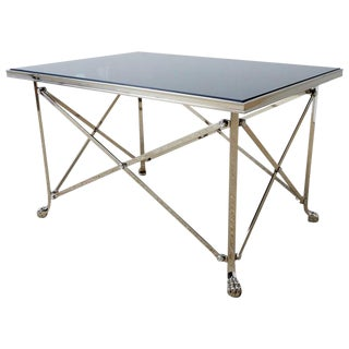 Neoclassical Grand Tour Style Nickel Cocktail Table For Sale
