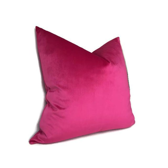 Add A New Look By Using Pillow Covers Made of Designer Fabric! UNUSED PILLOW COVER- Made to Order Designer Fuchsia Velvet...
