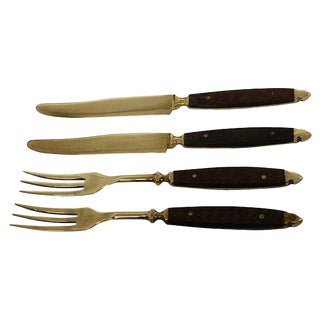 Vintage French Fruit/Cheese/ Desert Service Cutlery/Flatware S/24 For Sale