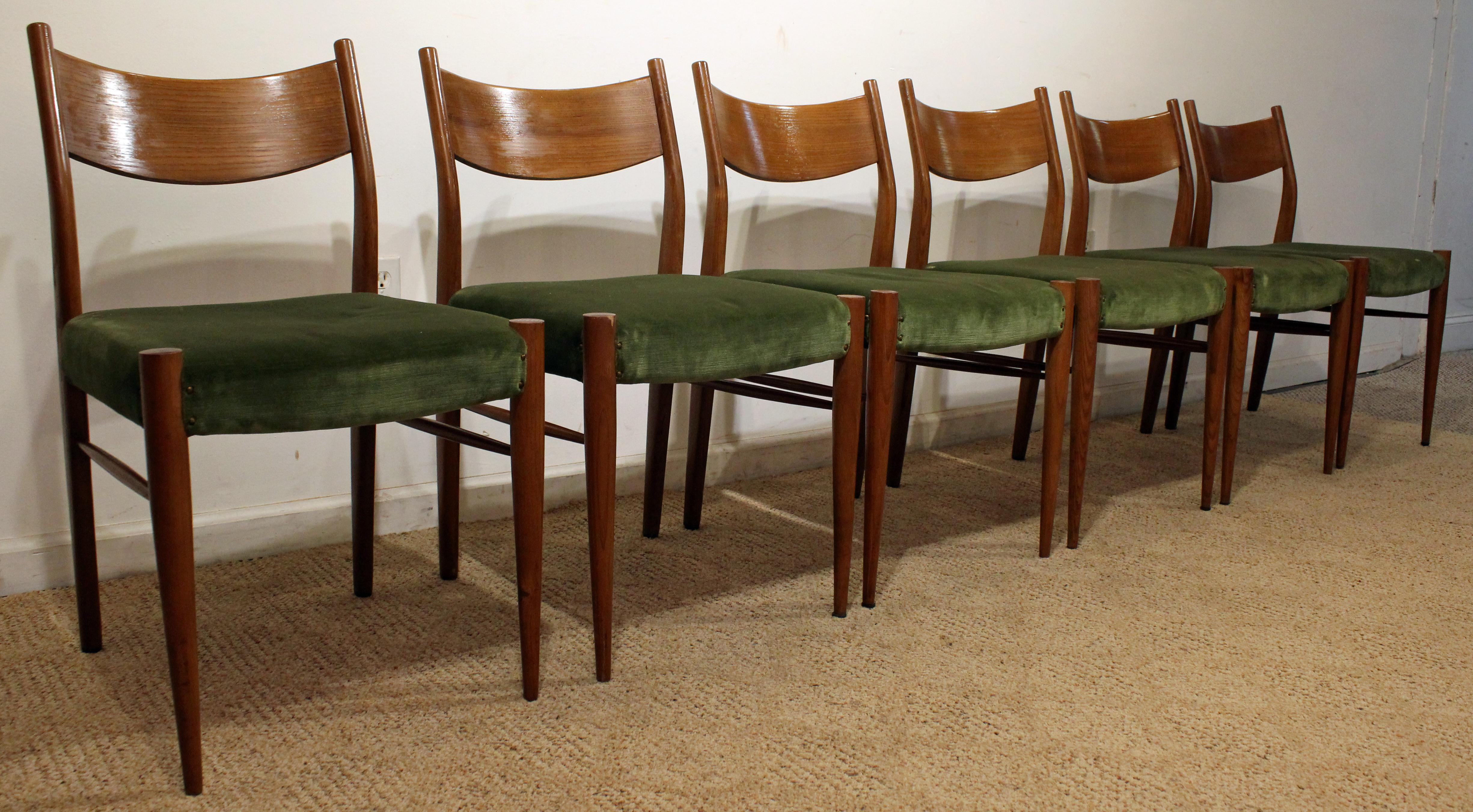 Set Of 6 Mid Century Danish Modern Teak Curved Back Dining Chairs   Image 2