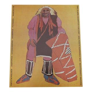 Fritz Scholder Vintage Exhibition Poster For Sale