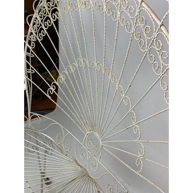 Mid-Century John Salterini CastIron Peacock Settee For Sale - Image 9 of 11