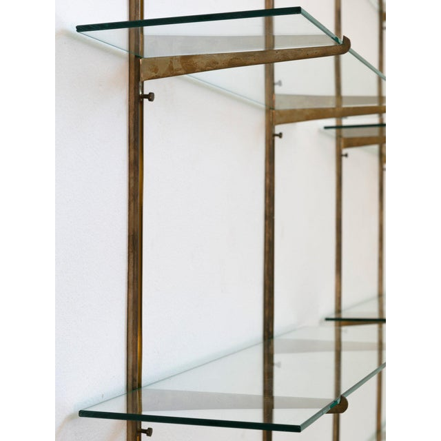1950s Italian 50s Brass Bookcase For Sale - Image 5 of 9