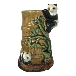 Chinois Babmoo & Pandas Vase For Sale